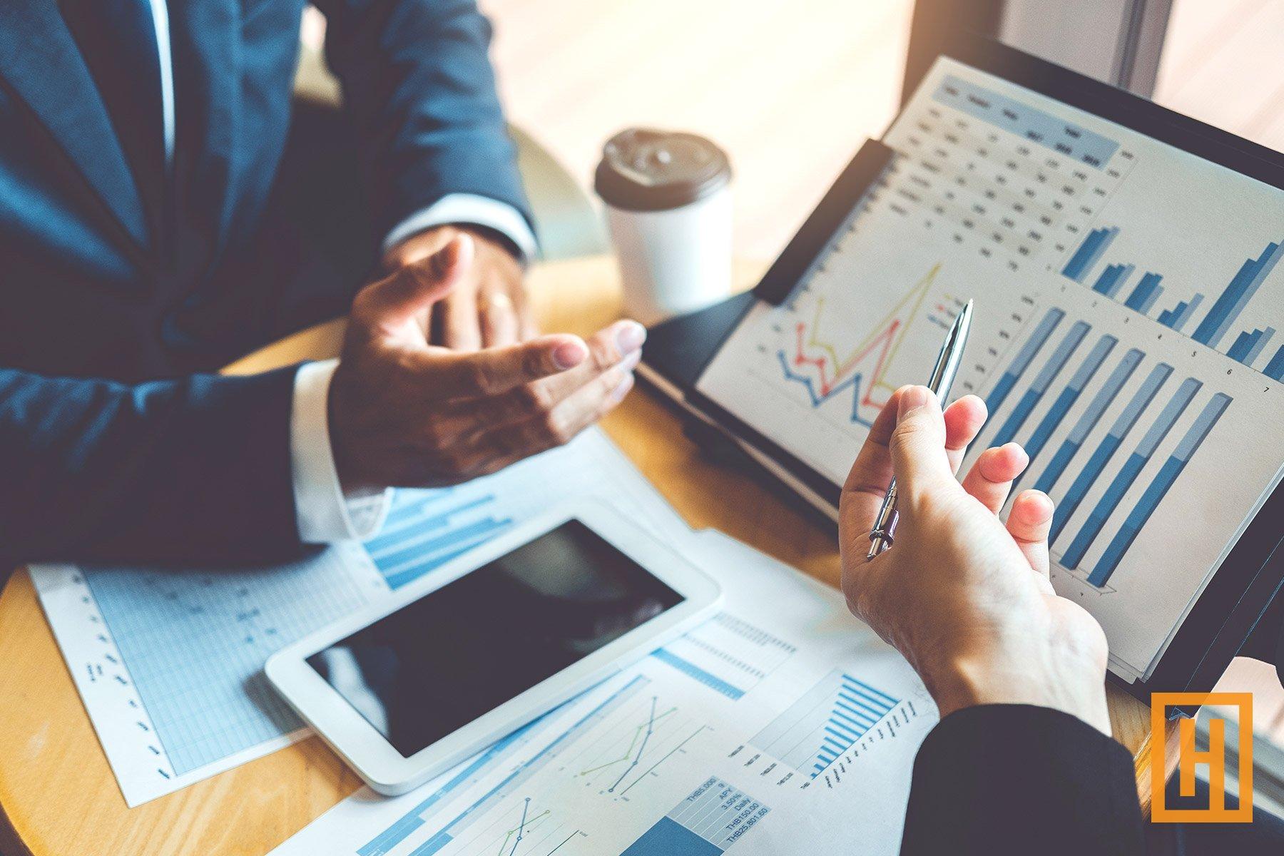 Investors working and brainstorming