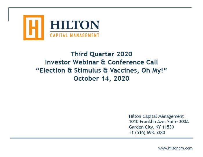 Hilton - Q3 2020 Webinar