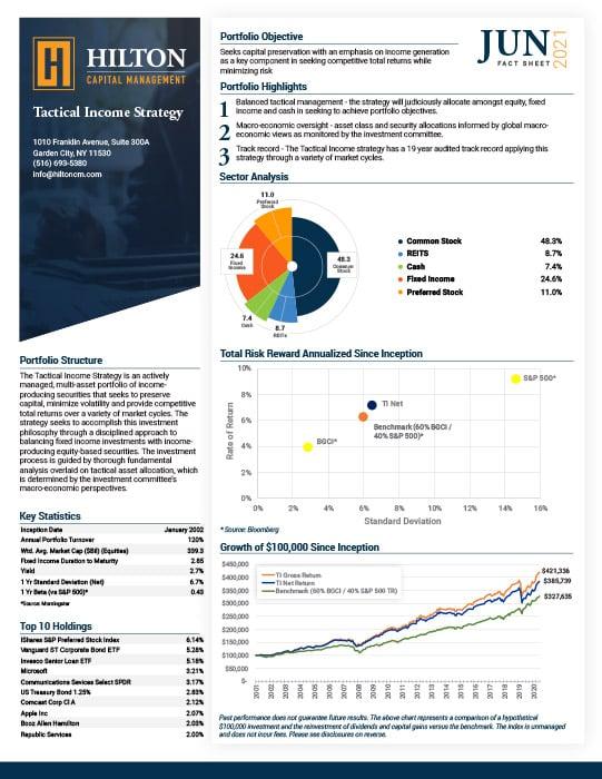Tactical Income Factsheet