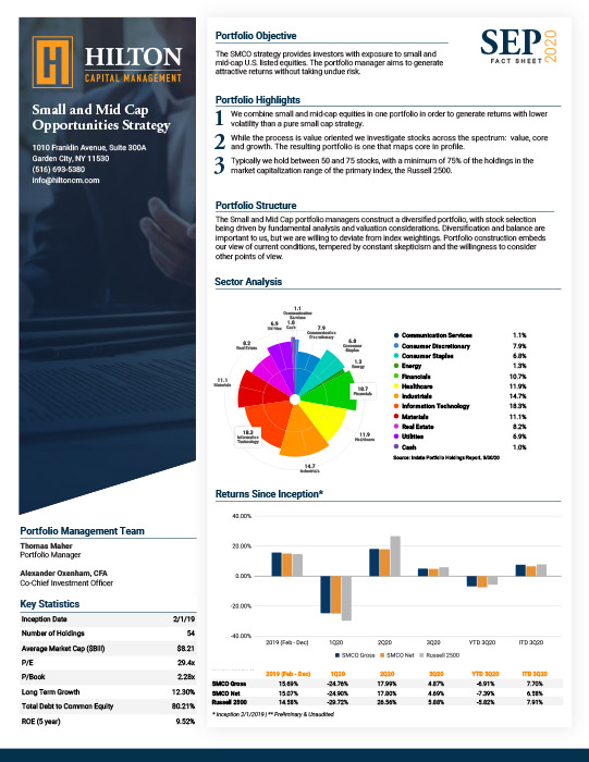 Small and Mid Cap Opportunities Strategy Factsheet